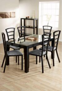 Valencia Rectangular Dining Table Room Set in Black